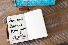 Written text Generate Revenue From Your Clients - stock photo
