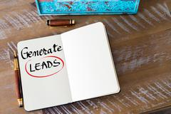 Written text Generate LEADS - stock photo