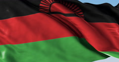 Ultra realistic looping flag: Malawi Stock Footage