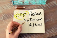 Acronym CPP as Customer Purchase Preference Stock Photos