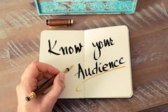 Written text Know Your Audience - stock photo