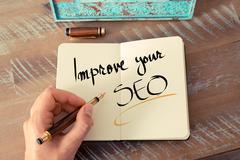 Written text Improve Your SEO Stock Photos