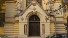 Saint James Church in Ljubljana Stock Footage