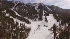 Aerial Ski resort Lee Canyon Nevada - stock footage