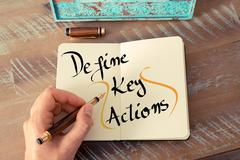 Written text Define Key Actions - stock photo