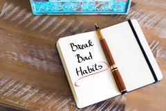 Written text Break Bad Habits - stock photo