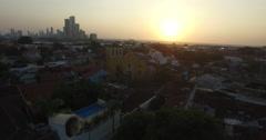 Plaza Trinidad at Sunset Stock Footage