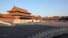 Gate of Supreme Harmony of the Forbidden City. Beijing, China Stock Footage