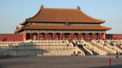 Hall of Supreme Harmony of the Forbidden City. Beijing, China Stock Footage