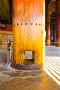 Daibutsuden Inside Pillar Hole Nirvana Todai-ji Stock Photos