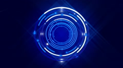 blue abstract background and circles, loop - stock footage