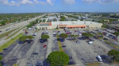 Home Depot Miami Lakes aerial video Stock Footage