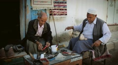 Portrait of artisans in douz, tunisia Stock Footage