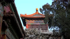 Inner tower Gate of Divine Might of the Forbidden City. Beijing, China - stock footage