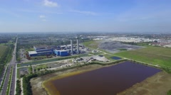 Miami Dade recycling center panoramic - stock footage