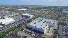 Miami Lakes Palmetto Highway aerial video Stock Footage
