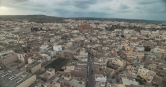 Aerial Shot of a small Village Stock Footage