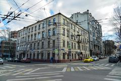 Moscow, Russia - March 14, 2016. Crossroads Novoryazanskaya street and a Pere Stock Photos