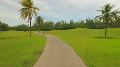 Motion video of the Crandon Park Golf Course Key Biscayne Stock Footage