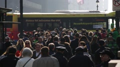 Crowd of Pedestrians in Manhattan New York Stock Video Stock Footage