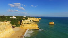 Aerial from Praia Marinha in Portugal Stock Footage