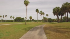 Point of view from a golf cart Stock Footage