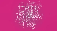 Happy Mothers Day Greeting Animation Stock Footage