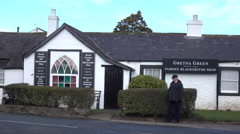 Gretna Green Scotland wedding blacksmith shop 4K Stock Footage