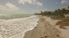 Walking a walk on the beach Key Biscayne Stock Footage