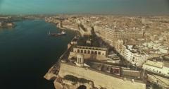 Aerial Shot over Valletta Malta Stock Footage