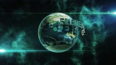 Planet Logo or Text Reveal - stock after effects