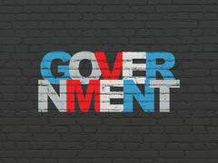 Political concept: Government on wall background Stock Illustration