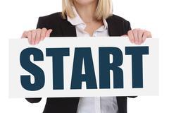 Start starting begin beginning business concept career goals motivation Kuvituskuvat
