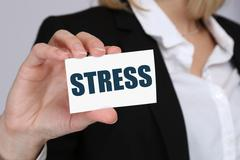 Stress stressed business woman burnout at work concept Kuvituskuvat