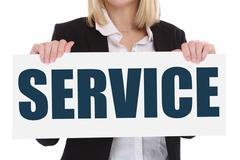Customer service support help assistance contact business concept - stock photo