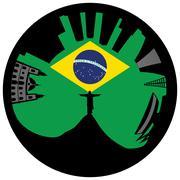 Vector illustration of the Rio de Janeiro skyline Piirros