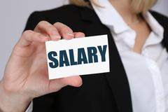 Stock Photo of Salary increase negotiation wages money finance business concept