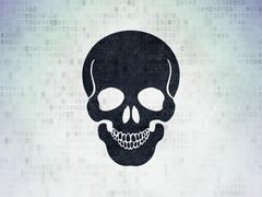 Medicine concept: Scull on Digital Paper background - stock illustration