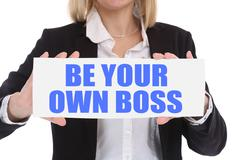 Self-employed self employed employment be your own boss business concept - stock photo