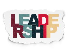 Business concept: Leadership on Torn Paper background - stock illustration