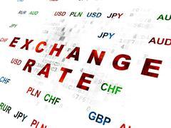 Money concept: Exchange Rate on Digital background - stock illustration