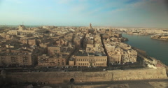 Aerial Shot over Valletta Church Stock Footage