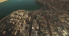 Aerial Shot - A top shot of a City by the sea Stock Footage