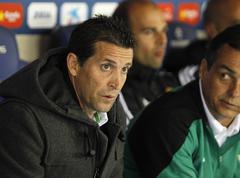 Juan Merino of Real Betis Stock Photos