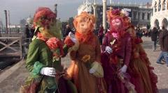 Masks Venice Carnival (3).mp4 Stock Footage