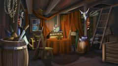 Bandits House - stock illustration