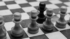 Pawns On Chessboard - stock photo