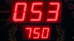 Red numbers , slot machines. Stock Footage