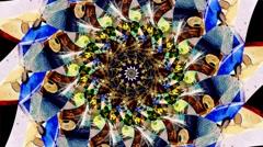beautiful kaleidoscope loop abstract background - stock footage