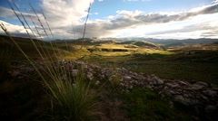 typical landscape of the Andes in Peru - stock footage